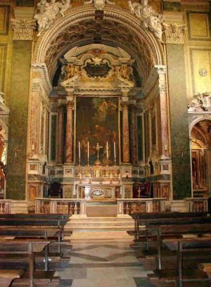 Altar mayor del templo.