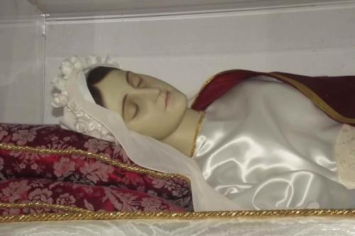 Detalle de la figura que contiene las reliquias de la Santa. Fotografía: Damiano Grenci.