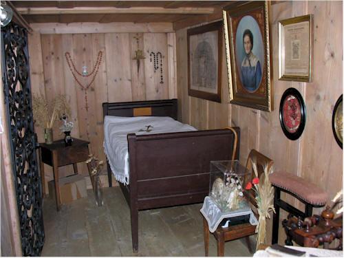 Habitación donde vivió la Beata.