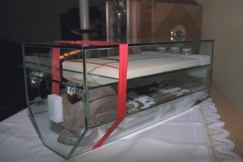 Interior de la urna-relicario de la Beata.