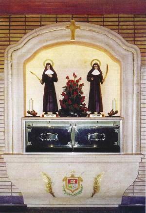 Sepulcro de las Beatas en la capilla de la casa-asilo de Requena, Valencia (España). Cortesía de las Hermanitas de Requena.