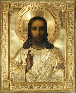 Icono ortodoxo ruso del Pantócrator.
