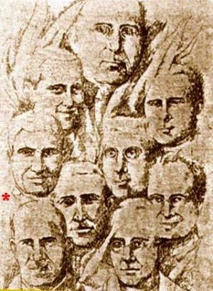 Los nueve sacerdotes operarios diocesanos beatificados el 1-X-1995. El Beato Martín está marcado con un asterisco.