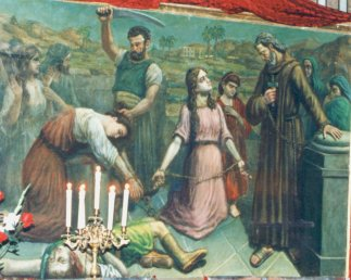 Martirio de los Santos Ciro, Juan, Atanasia e hijas.