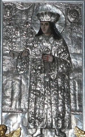 El Venerable Icono del Santo. Catedral de Vilnius, Lituania.