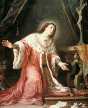 Lienzo barroco anónimo del Santo.