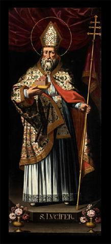 Lienzo barroco del Santo.