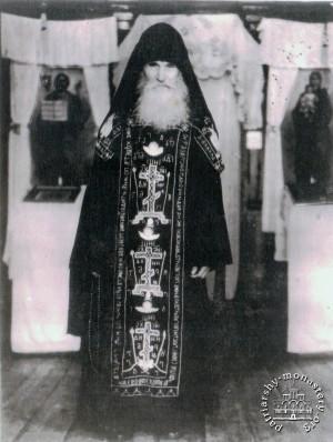 Foto de San Kuksha de Odessa cuando estaba en la Laura de las Grutas de Kiev.