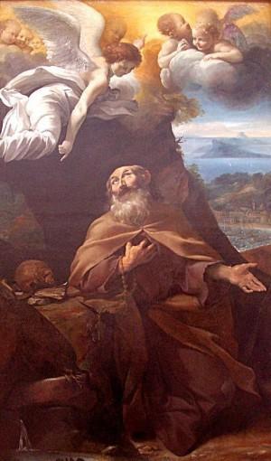 Lienzo del Santo, obra de Giovanni Lanfranco. Museo de Bellas Artes de Lyon, Francia.