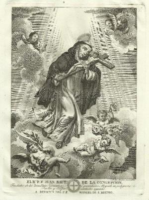 Antiguo grabado del Santo. Fuente: www.todocoleccion.net