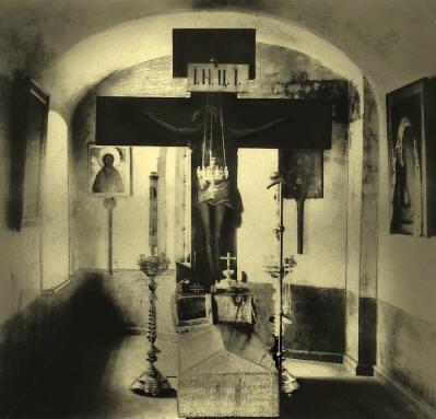 Tumba del santo del siglo XVII.
