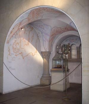 Reliquias en la catedral de Hildesheim (Alemania).