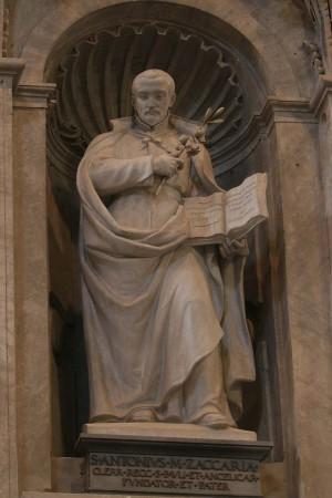 Escultura del santo, obra de Cesare Aureli. Basílica de San Pedro del Vaticano, Roma (Italia).