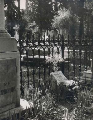 Primera sepultura del Beato, en el cementerio de San José.