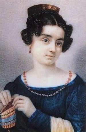 Retrato de la Beata en su juventud.