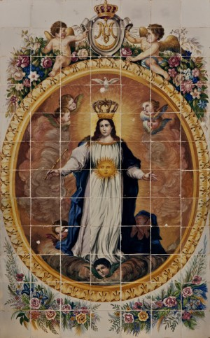 Cerámica de la Virgen de la Esperanza en Onda, Castellón (España).