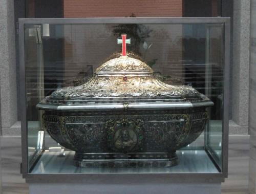 Urna con las reliquias del Santo en Salamanca. Foto: Sergio Pereira.