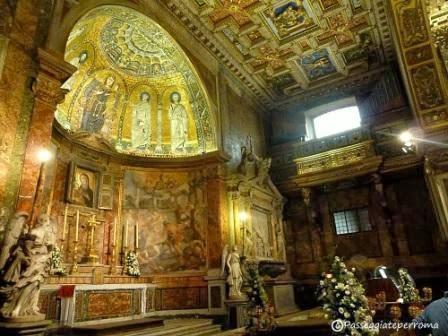 Altar mayor de Santa Maria Nuova, Roma. En él están las reliquias de los Santos Nemesio, Lucila, Exuperia, Sempronio, Teódulo y Olimpio.