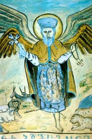 Icono etíope de San Takla Haymanot.