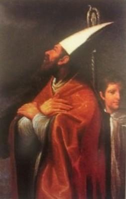 Lienzo barroco de San Urso de Fano, obispo.