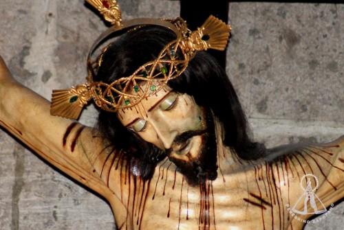 Detalle del rostro de la imagen. Archivo de Peregrino Zapopano, órgano de difusión de la guardia de honor de Nuestra Señora de Zapopan.