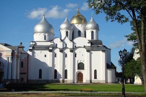 Catedral de santa Sofía de Novgorod, Rusia.