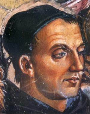 Retrato del Beato en un fresco de Luca Signorelli.