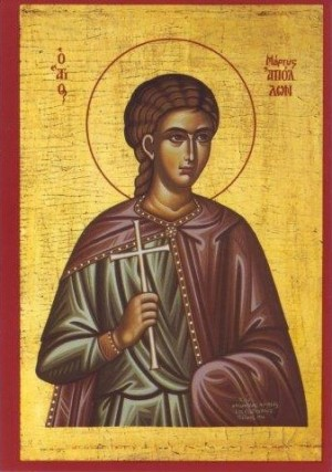 San Apolo (Apolonio), mártir en Egipto con Marciano y compañeros (5 de junio).