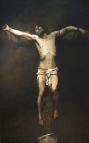 """""""Crucifixión"""", óleo historicista de Aimé Nicolas Morot (1850-1913)."""