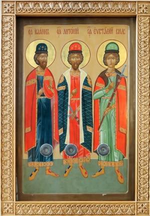 Icono ortodoxo ruso de los Santos.