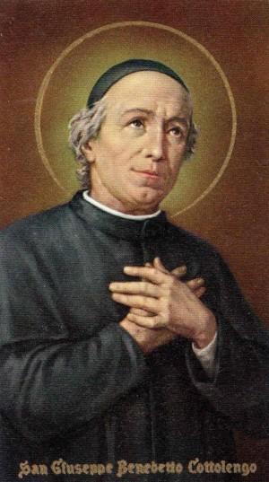 Estampa devocional italiana del Santo.