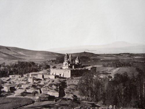 Foto del monasterio de Narek en el año 1900.