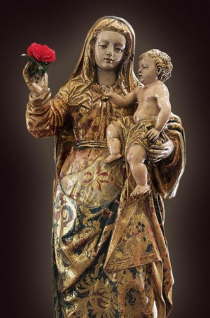Imagen de Nuestra Señora de Guanajuato sin sus habituales ropas que la cubren.
