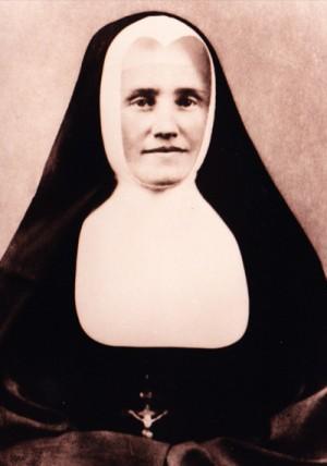 Fotografía de la Beata con el hábito de su fundación.