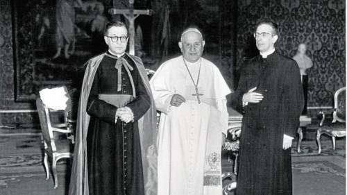 Fotografía tomada junto a Juan XXIII, 1960.