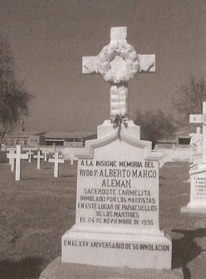 Lápida en honor a la memoria del Beato. Paracuellos del Jarama.