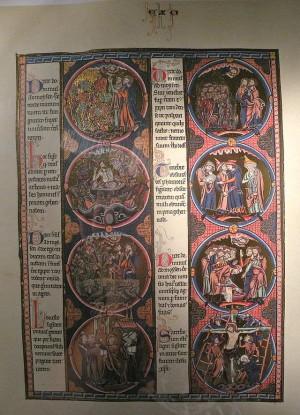Biblia del Santo conservada en Notre Dame de Poissy, Francia.