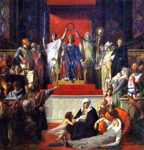 """""""Glorificación de San Luís"""", lienzo de Alexander Cabanel. Museo Favre de Francia."""