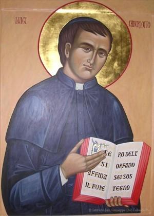 Icono del Beato imitando el canon bizantino. Fuente: Istituto San Giuseppe del Caburlotto.