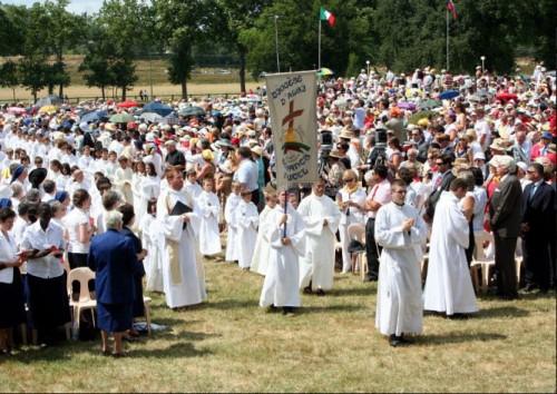Ceremonia de beatificación de la Santa.