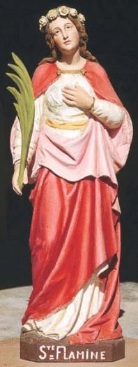 Imagen de la Santa venerada en Gestel, Francia.