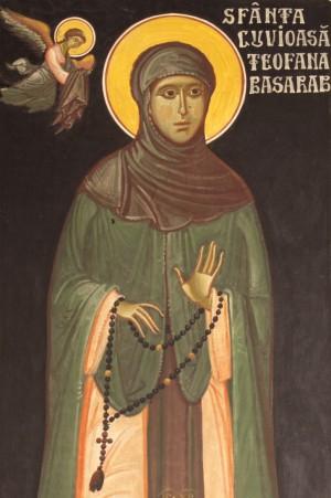 Fresco ortodoxo de la Santa  en la catedral metropolitana rumana de Nuremberg, Alemania.