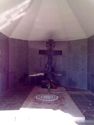 Última tumba del Santo.