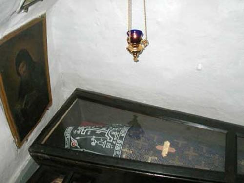 """Tumba de San Abrahán el """"amante de las fatigas""""."""