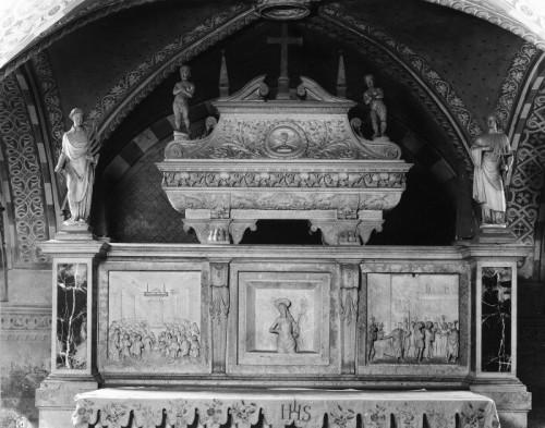 Reliquias en la catedral de Cremona (Italia).