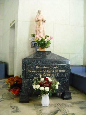 Actual sepulcro de la Beata en Baependi.