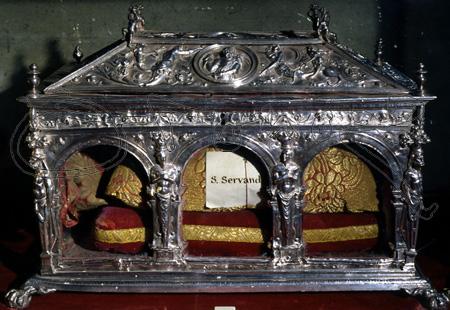 Relicario de San Servando en la catedral de Sevilla.