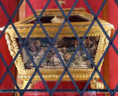 Relicario de los tres mártires en Camposanto, Pisa (Italia).