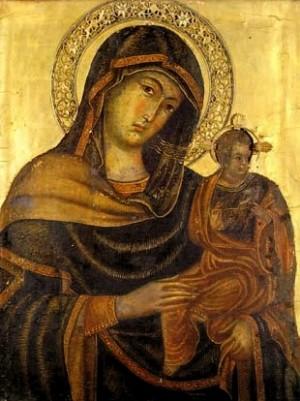 Virgen de Gracia, siglo XIV. Iglesia de San Agustín y Santa Catalina, Valencia (España).