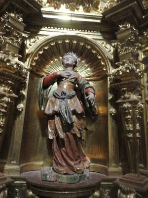 Estatua de la Santa. Colegiata de Lerma, Burgos (España). Fotografía: María Gandia.